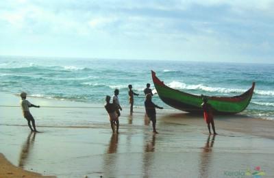 Fishing men at Kovalam