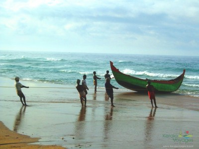 Fishing men at Kovalam