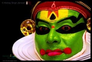 Kathakali performer, Thekkady, Kerala, India.