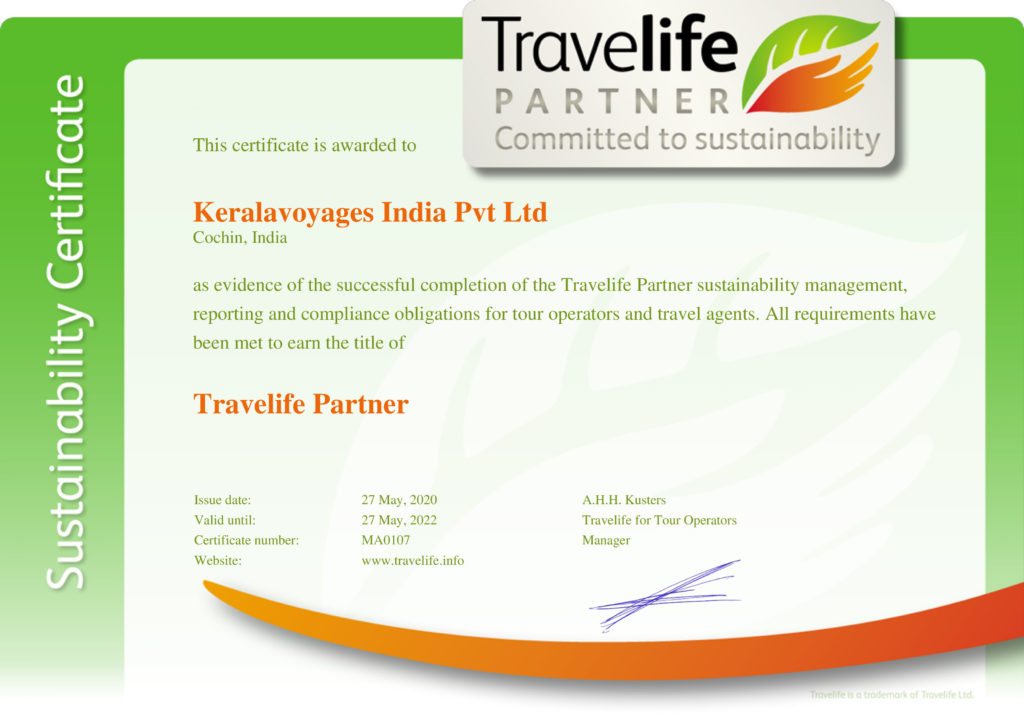 Travelife Partner Certificate